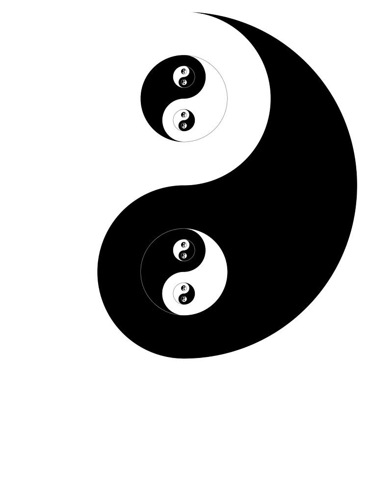Ying Yang Sticker by Rupert Russell