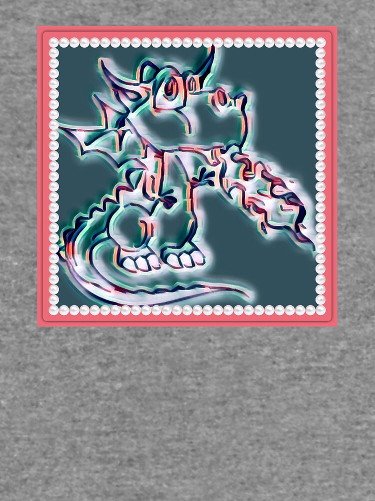 Draco art dragon in pearl and pink by Keywebco