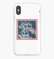 Draco art dragon in pearl and pink iPhone Case