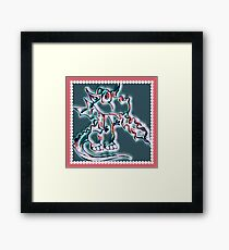 Draco art dragon in pearl and pink Framed Print
