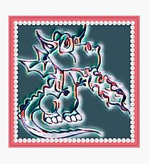 Draco art dragon in pearl and pink Photographic Print
