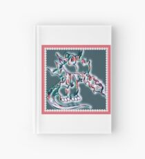 Draco art dragon in pearl and pink Hardcover Journal