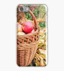 Basket with apples. iPhone Case/Skin