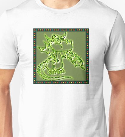 Festive Draco the dragon in green T-Shirt