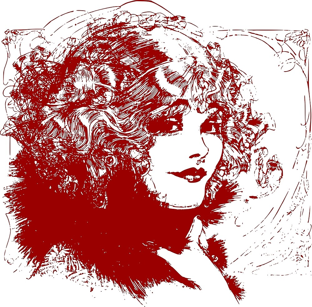 Curly Haired Lady by pereirashop