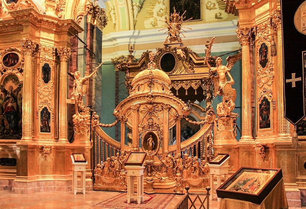Gates and golden iconostasis of Peter and Paul Cathedral. by GermanS