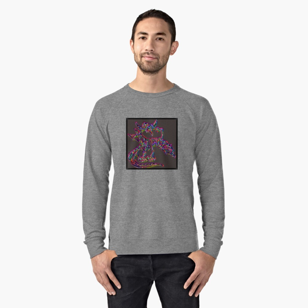 Psychedelic Draco the Dragon Lightweight Sweatshirt Front
