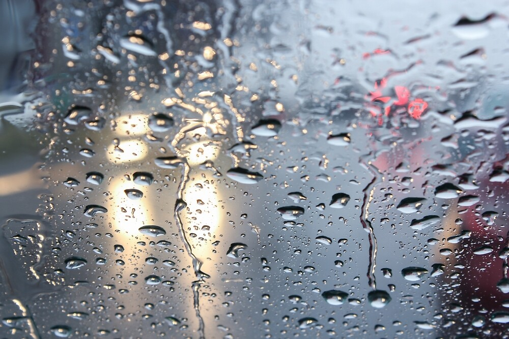 The headlights through wet glass. by GermanS