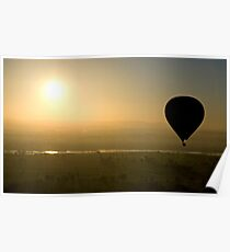 Hot Air Balloon Silhouette Poster