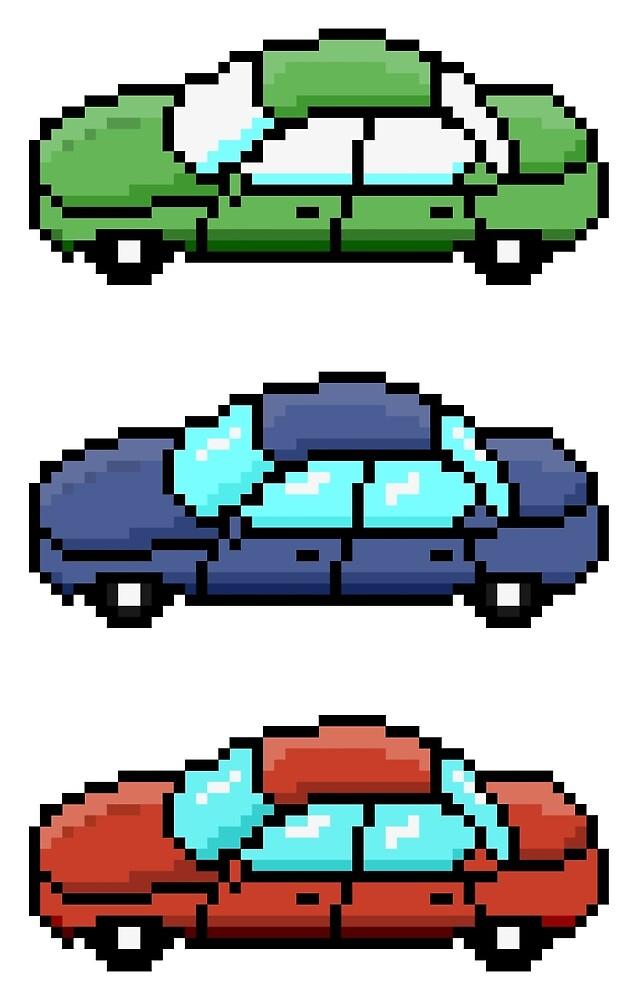 Much 8-bit cars  by pereirashop