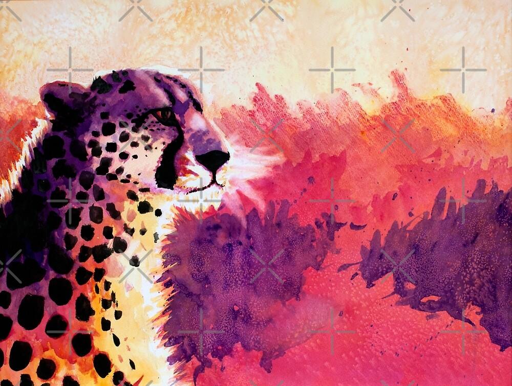 Watercolor Cheetah by fallenapple