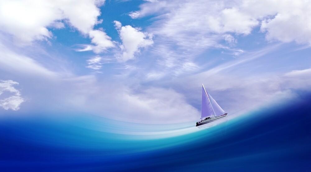 Art Ship Wave Design  by holidayfashion