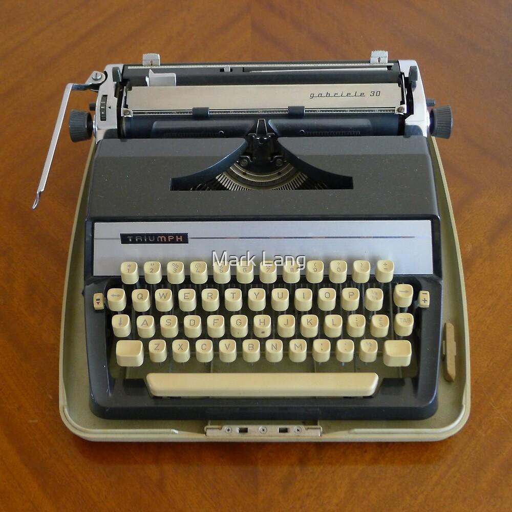 Triumph Typewriter by Mark Lang