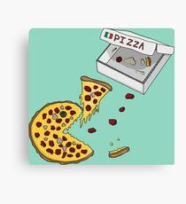 Pacman Pizza Canvas Print