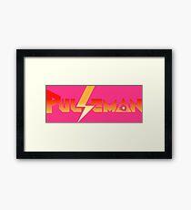Pulseman (Mega Drive Title Screen) Framed Print