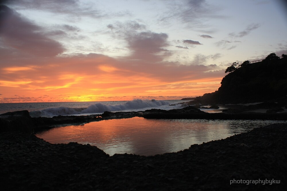 Snapper Rocks QLD Sunrise  by photographybykw
