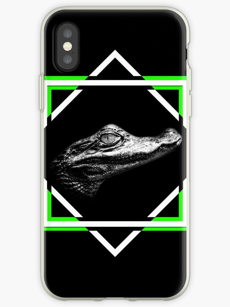 Crocodile Black & White by desexperiencia