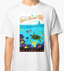 AUSTRALIA : Great Barrier Coral Reef Print Classic T-Shirt