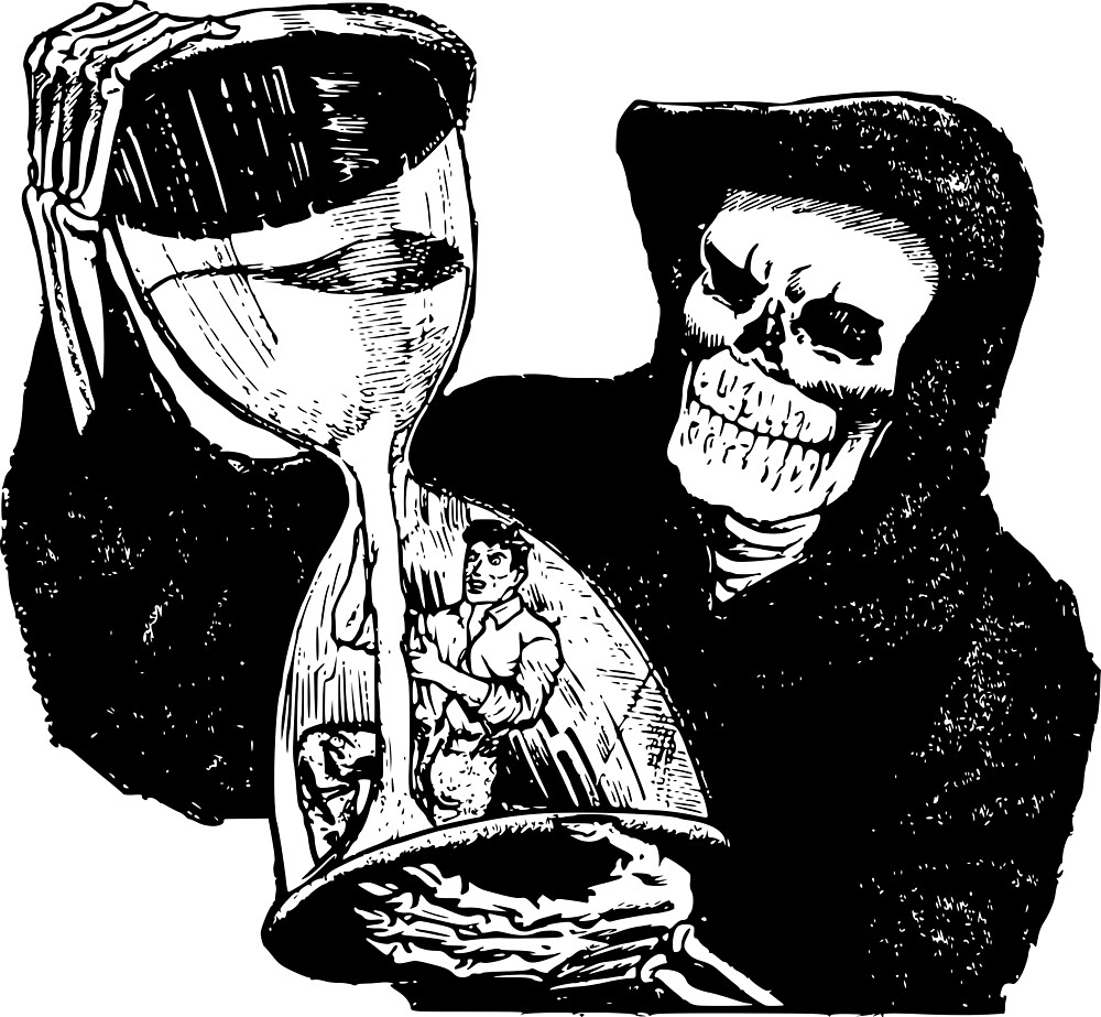 Grim Reaper and Man by pereirashop