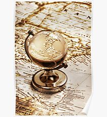 Old fashioned glass globe Poster