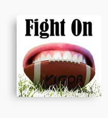 American Football Games -Fight On! Win It Canvas Print
