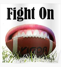 American Football Games -Fight On! Win It Poster