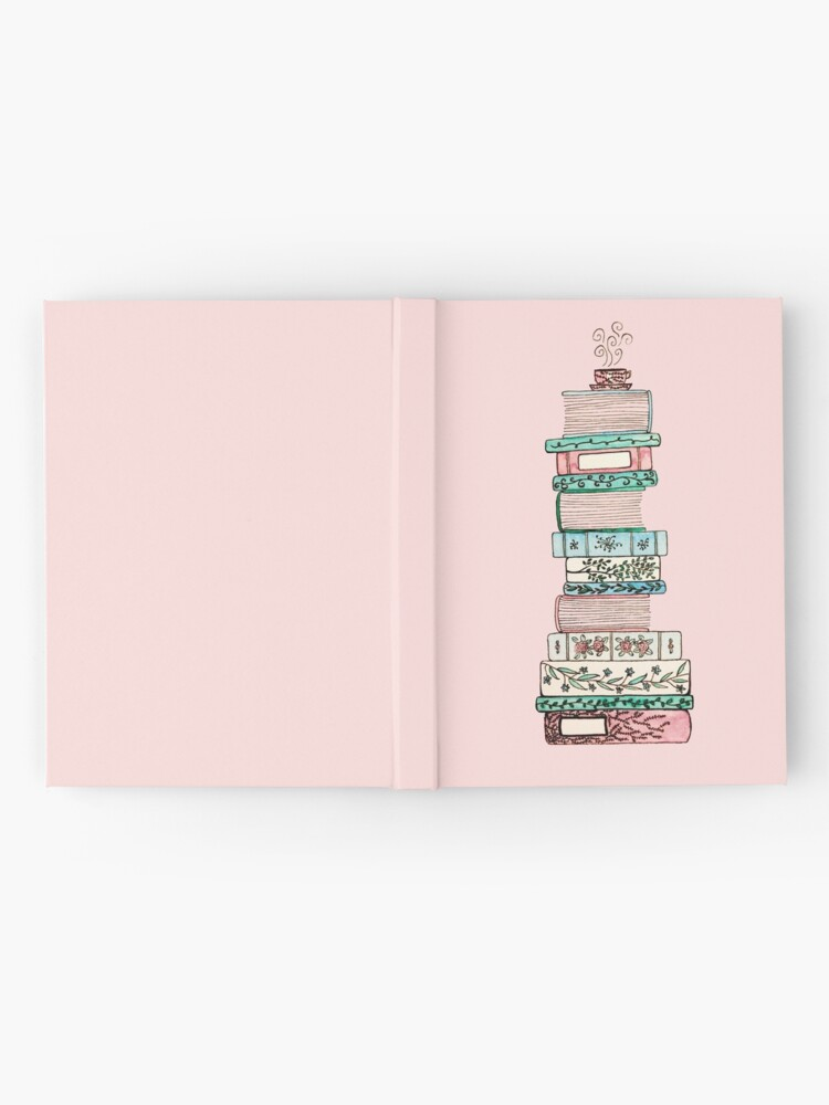 Alternate view of Pink and Blue Floral Bookstack Hardcover Journal