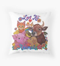 Love all Animals  Throw Pillow