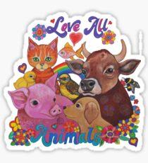 Love all Animals  Sticker