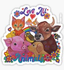 Love all Animals  Sticker