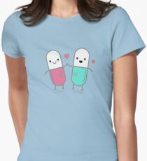 Funny Happy Pills  Womens Fitted T-Shirt