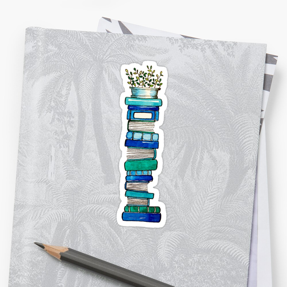 Blue Book Stack by Emma Mildred Riggle