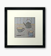 A cup of strong tea  Framed Print