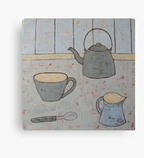 A cup of strong tea  Canvas Print