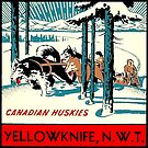 Yellowknife Northwest Territories NWT Canada Vintage Travel Decal by hilda74