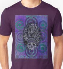 Indian Scull purple Unisex T-Shirt