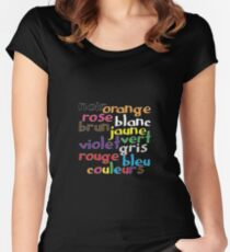 French colour words Women's Fitted Scoop T-Shirt