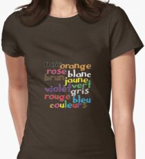 French colour words Women's Fitted T-Shirt