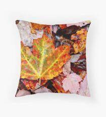 Leaf Litter III Throw Pillow