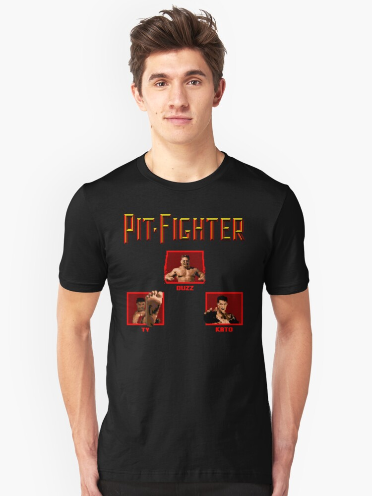 Pit-Fighter (Genesis Title Screen) Unisex T-Shirt Front