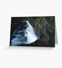 Waterfall PixelArt Greeting Card