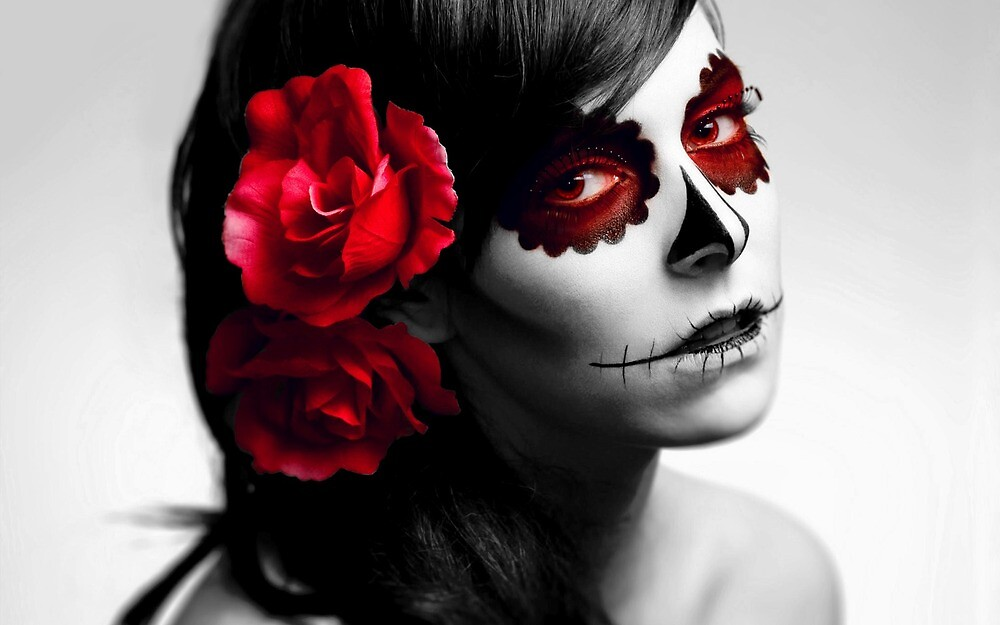 Girl with Skull Face by Angel ..