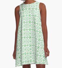 Marijuana Pattern A-Line Dress