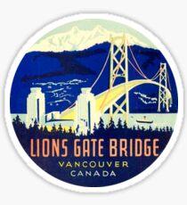 Lions Gate Bridge Vancouver BC Vintage Travel Decal Sticker