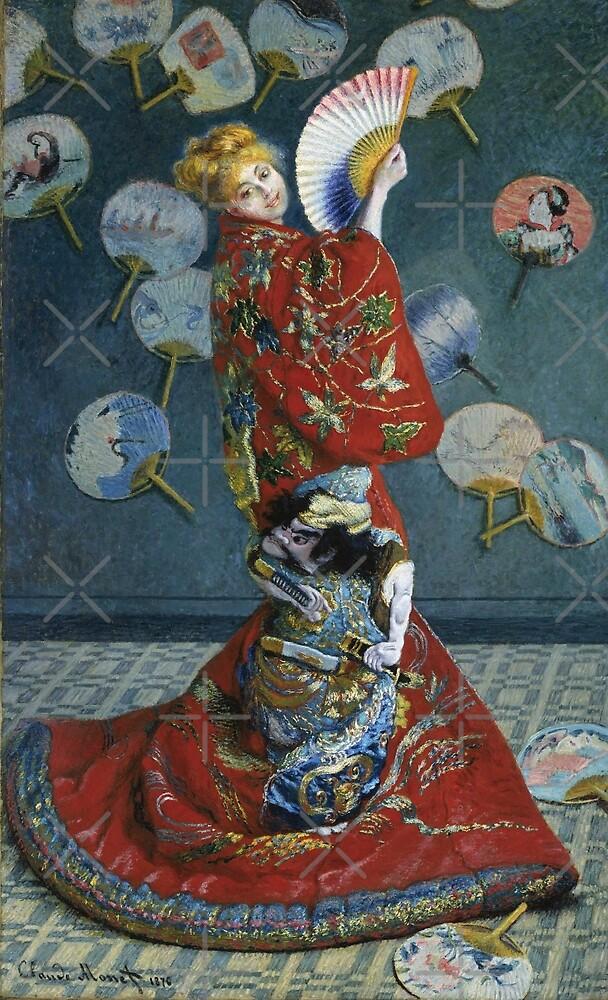 Camille in Japanese Kimono  by diane  addis