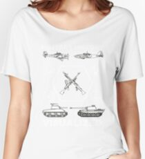 Military History Visualized - Planes, Tanks & Icons Women's Relaxed Fit T-Shirt
