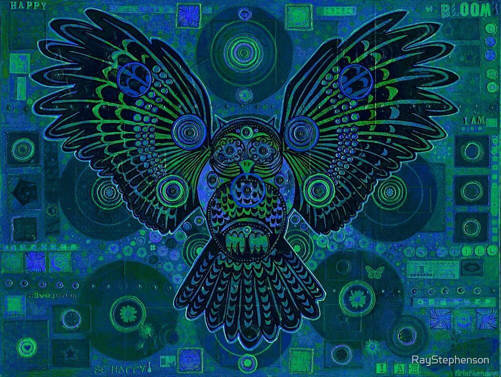 Blue owl by RayStephenson