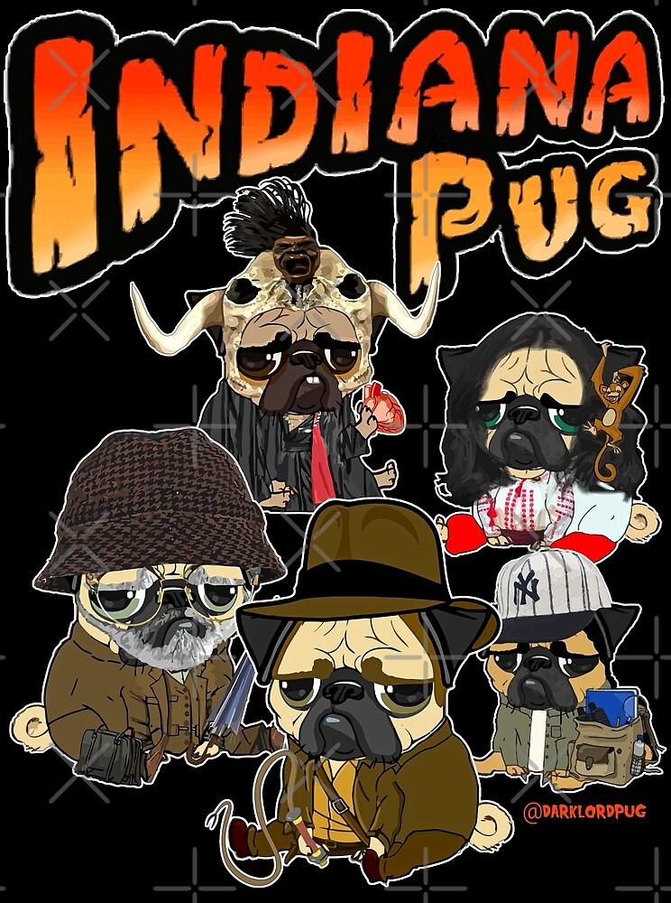 INDIANA PUG by darklordpug