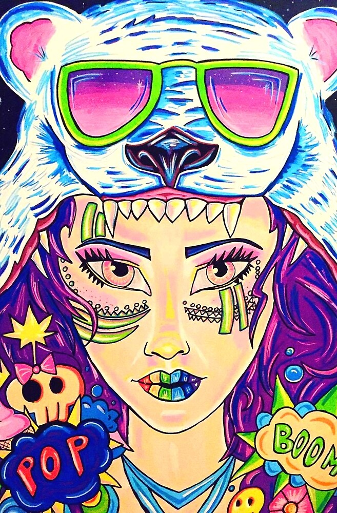 Raver Girl by CindyDeroeuxArt