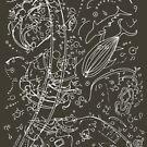 Rapa Nui Petroglyphs (white lines) by JTLazenby